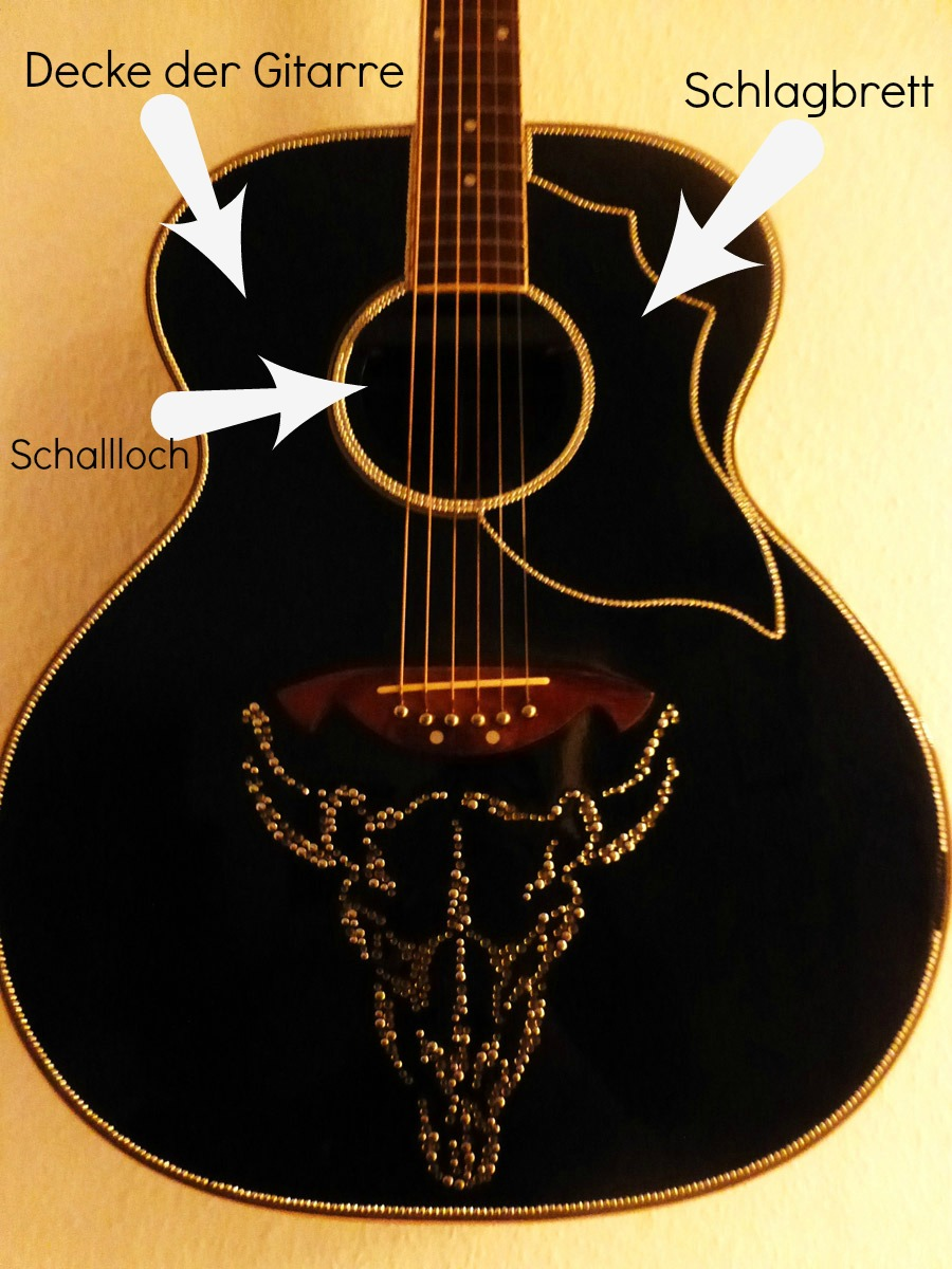diy gitarre mit strasssteinen der wohnsinn. Black Bedroom Furniture Sets. Home Design Ideas
